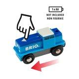 BRIO - Goederentrein op batterijen (blauw)