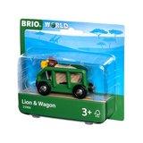BRIO - Leeuw & Wagon 33966