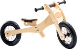 Trybike Wood Brown tweewieler laag