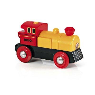 BRIO - Geel-Rode locomotief op batterijen