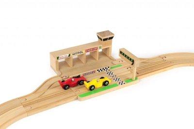 IKONIC TOYS - Houten Racebaan incl. 2 raceauto's