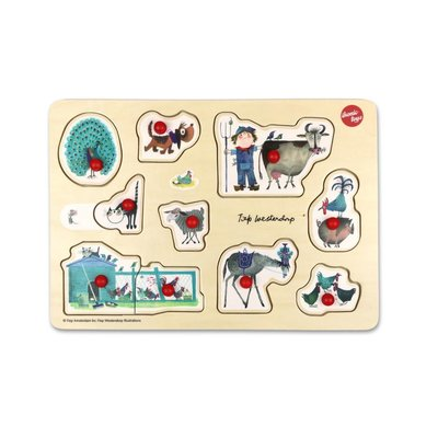 IKONIC TOYS - Fiep Westendorp houten puzzel dieren