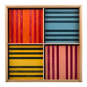 KAPLA - 100 stuks 8 kleuren assorti (verpakt in kist)