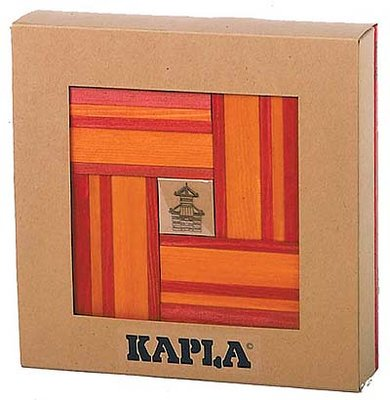 KAPLA - 40 stuks Nr 22 Rood/Oranje met boek