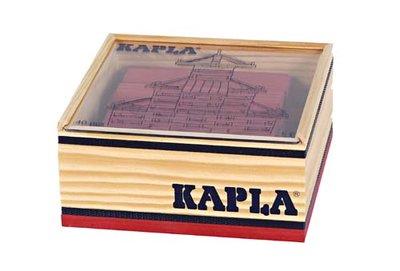 KAPLA - 40 stuks Rood (in kistje)