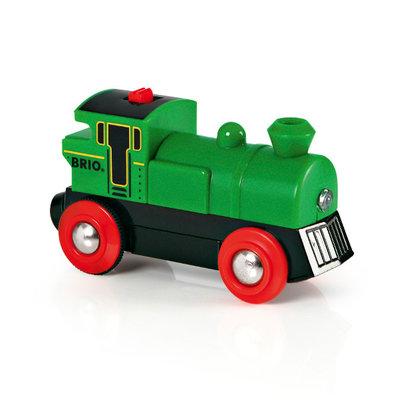 BRIO - Groene locomotief op batterijen