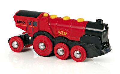 BRIO - Rode locomotief op batterijen