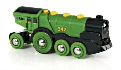 BRIO - Grote groene locomotief op batterijen