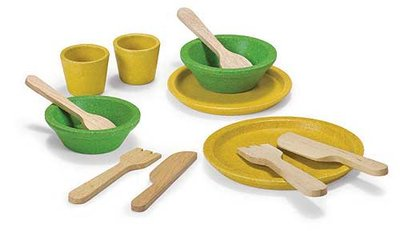 PLANTOYS - Servies en bestek set