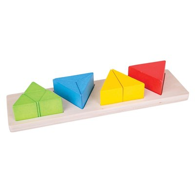 BIGJIGS - Driehoek Breuken puzzel