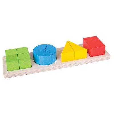 BIGJIGS - Vormen Breuken puzzel