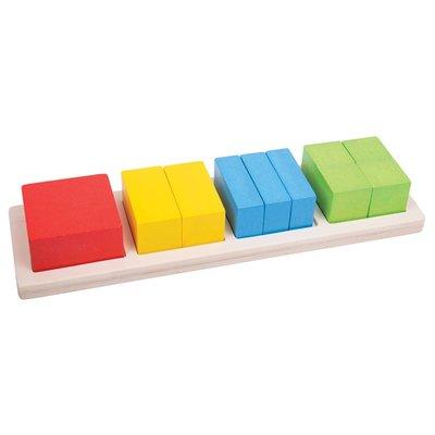 BIGJIGS - Vierkant Breuken puzzel