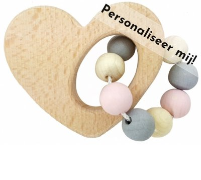 HESS - Rammelaar Hart (Naturel-roze) - Gemaakt voor jou!