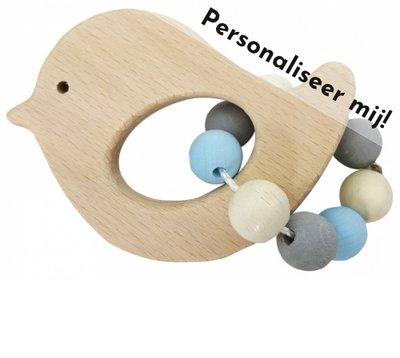 HESS - Rammelaar Vogel (naturel-blauw) - gemaakt voor jou!