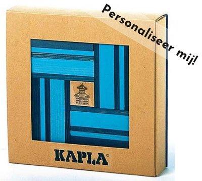 KAPLA - 40 stuks Nr 21 Licht-/Donkerblauw met boek - Gemaakt voor jou!