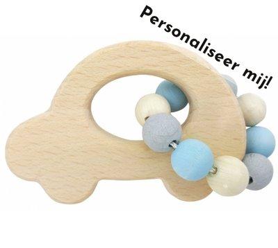 HESS - Rammelaar Auto (naturel-blauw) - gemaakt voor jou!