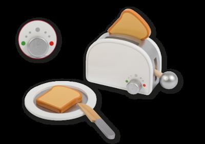JOUECO - Houten Broodrooster