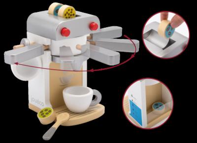 JOUECO - Houten Koffieapparaat Deluxe