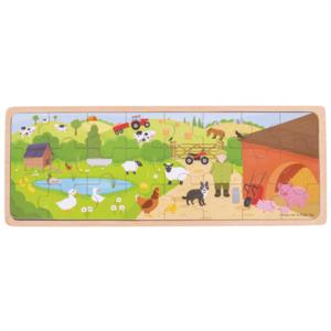BIGJIGS - Op de boerderij puzzel