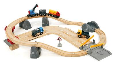 BRIO - Spoor en weg transportset