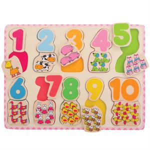 BIGJIGS - Kleuren en Nummers Puzzel