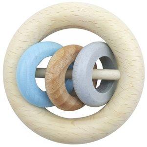 HESS - Rammelaar 3 ringen (naturel-blauw)